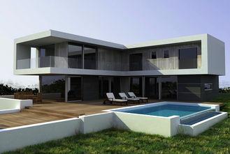 China Staal Structurele Kleine Prefabhuizen Geprefabriceerde Villa/Moderne Eenvoudige Stijlvilla leverancier