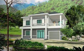 China De geprefabriceerde Landelijke Villa met Licht Staalkader, assembleert snel Prefab Modulaire Huisvesting leverancier