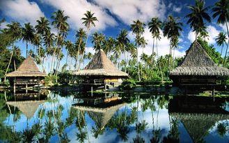 China De geprefabriceerd huis Geprefabriceerde Bungalow van Bali, de Bungalowwen van Tahiti Overwater voor Toevlucht de Maldiven leverancier