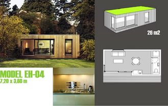 China De Studio's van de cabinestuin/prefabriceerden Tuinstudio met Licht Staalkader leverancier