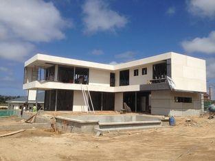 China 2 het verhaal, vlak dak, Uruguay prefabriceerde licht staalhuis, de Lichte Huizen van het Staalkader leverancier
