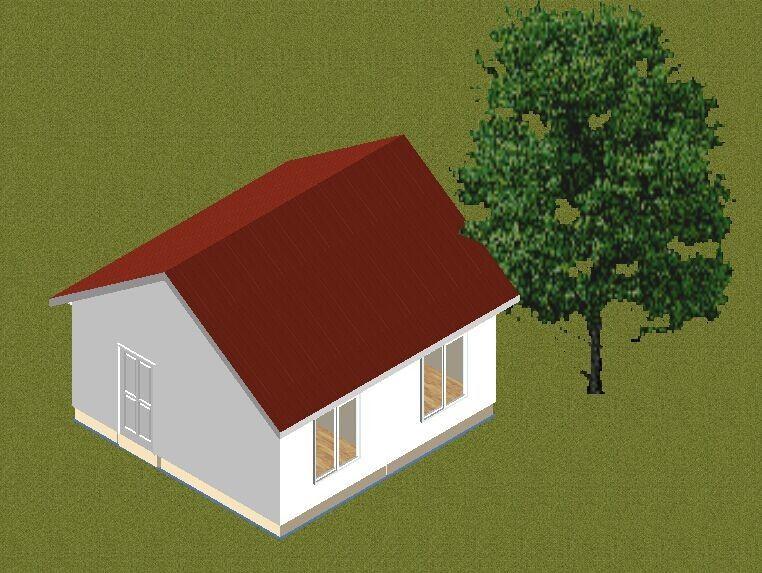De kleine huizen van de het kader prefabbungalow van het