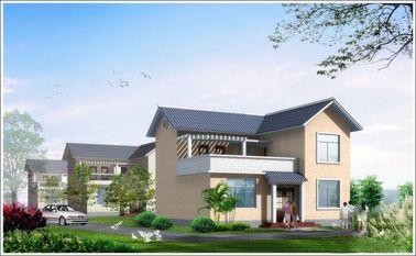 China 2 huis van verhaal het Lichte Staal Geprefabriceerde Woden, Wit Prefabstaalhuis voor het Leven verdeler