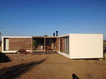De Moderne geprefabriceerde huizen van de staalstructuur, de Plannen van het de Bungalowhuis van Uruguay